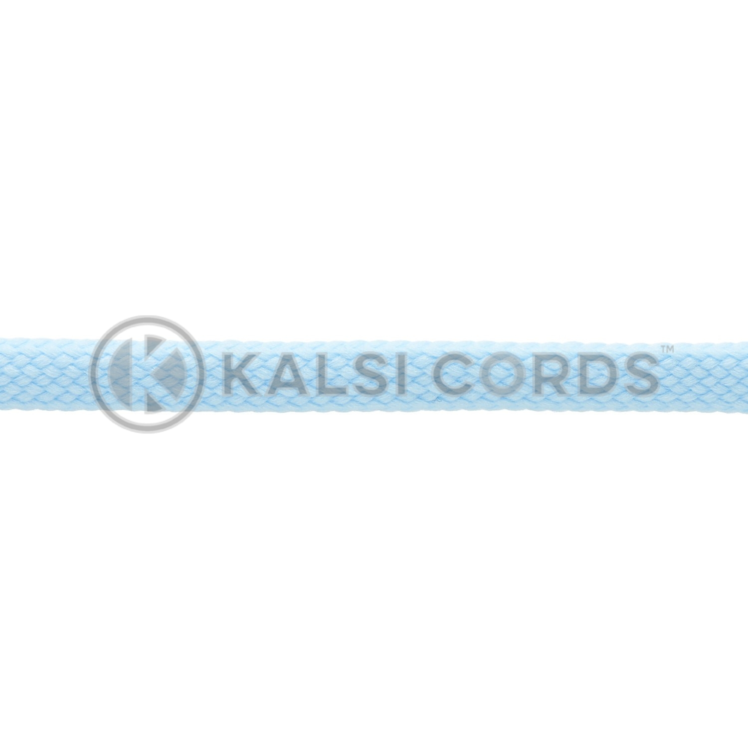 7mm Flat Shoe Laces Tubular Baby Blue PG835 Kids Toddlers