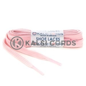 T461 7mm Thin Flat Shoe Laces Tubular Baby Pink PG834 Kids Toddlers