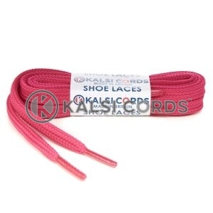 T461 7mm Thin Flat Shoe Laces Tubular Cerise Pink PG391 Kids Toddlers