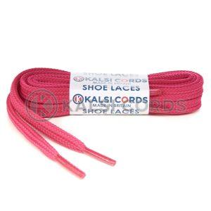 T461 7mm Thin Flat Tubular Shoe Laces Cerise Pink 1 Kalsi Cords