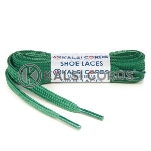 T461 7mm Thin Flat Shoe Laces Tubular Emerald Green PG517 Kids Toddlers