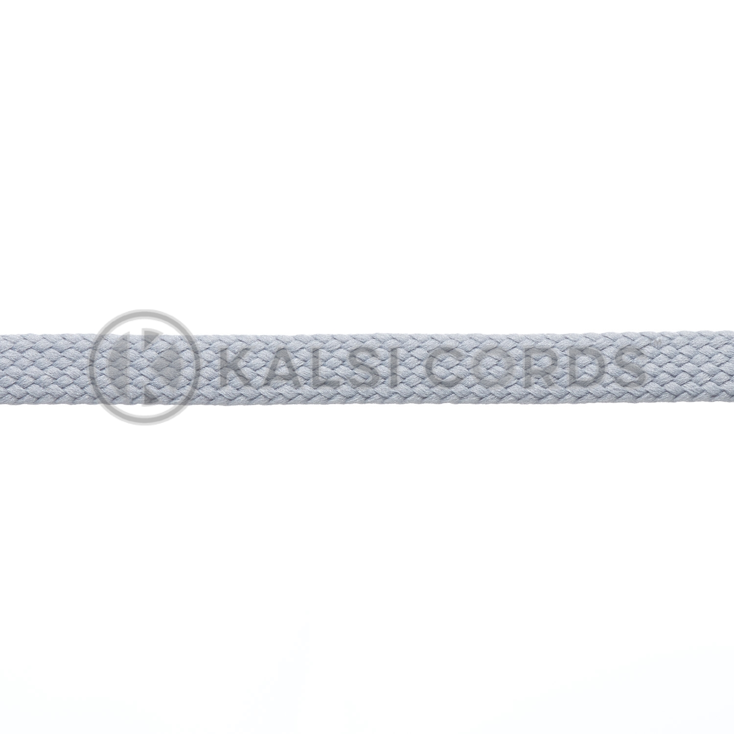 7mm Flat Shoe Laces Tubular Frosted Silver PG654 Kids Toddlers