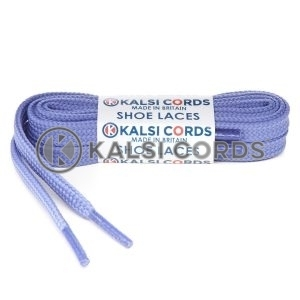 T461 7mm Thin Flat Shoe Laces Tubular Lilac PG744 Kids Toddlers