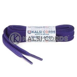 T461 7mm Thin Flat Tubular Shoe Laces Purple 1 Kalsi Cords