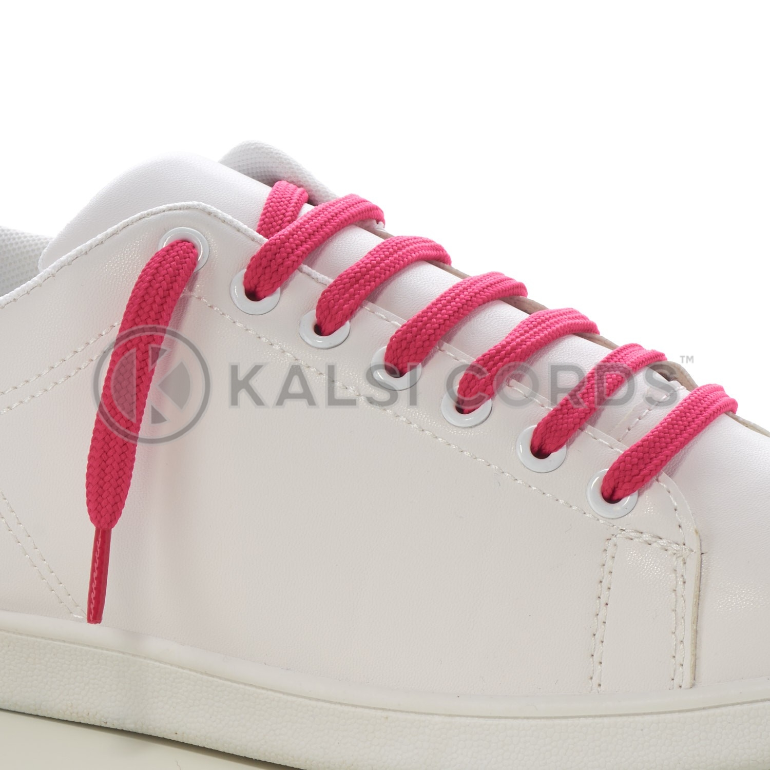 9mm Flat Shoe Laces Tubular Cerise Pink PG391 Sports Trainers Boots Footwear Drawstring Drawcord
