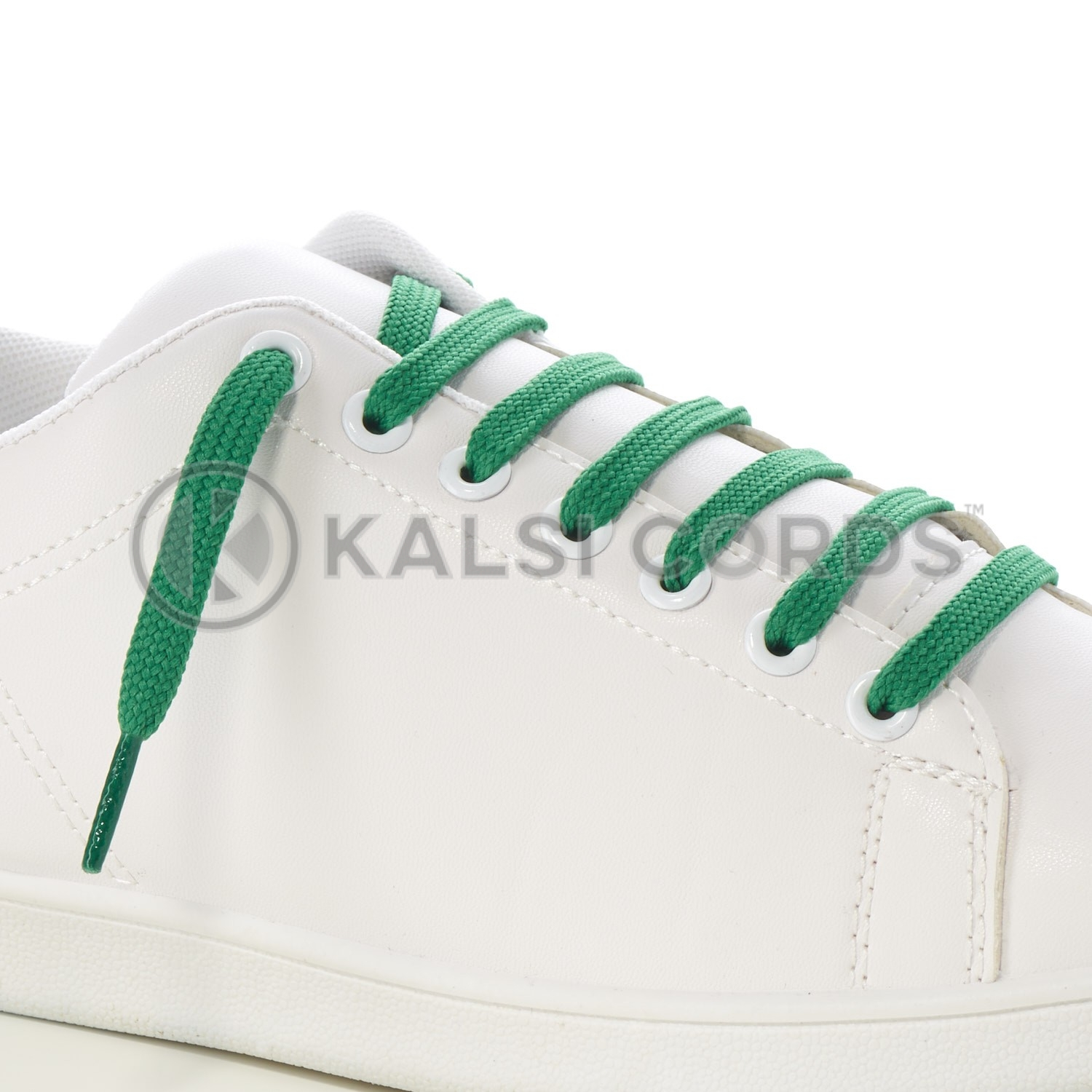 9mm Flat Shoe Laces Tubular Emerald Green PG517 Sports Trainers Boots Footwear Drawstring Drawcord