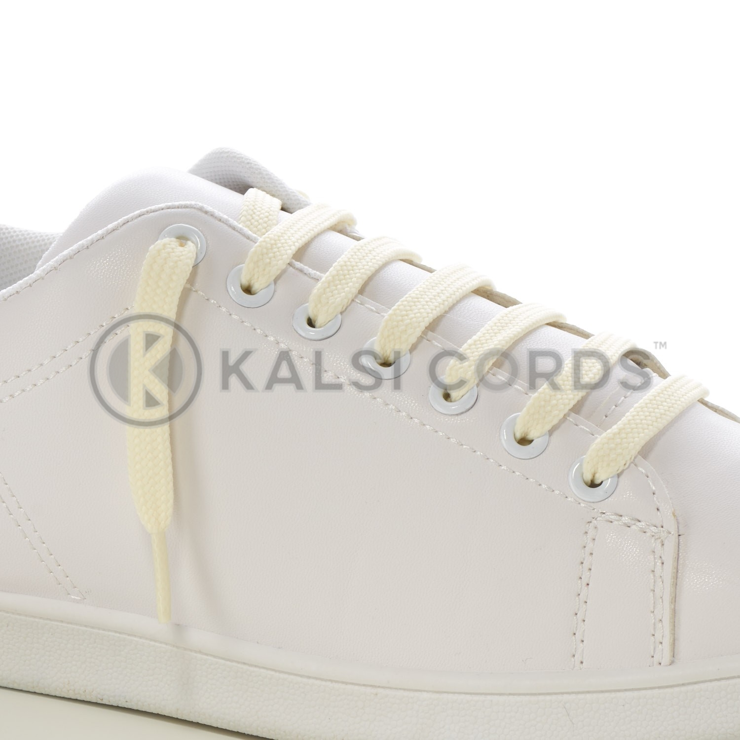 9mm Flat Shoe Laces Tubular Ermine Off White PG904 Sports Trainers Boots Footwear Drawstring Drawcord