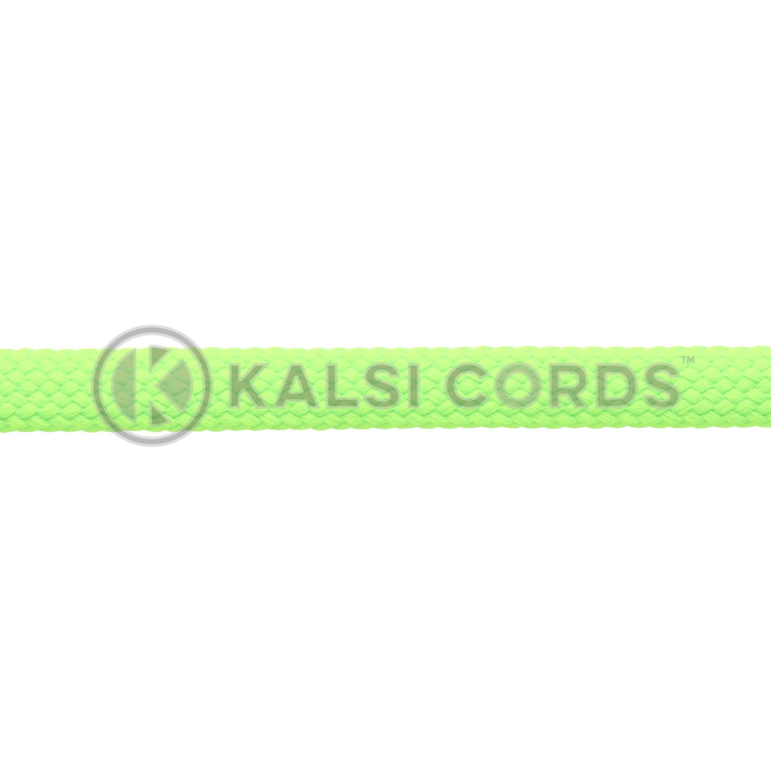 9mm Flat Shoe Laces Tubular Fluorescent Neon Lime Green PG051 Sports Trainers Boots Footwear Drawstring Drawcord