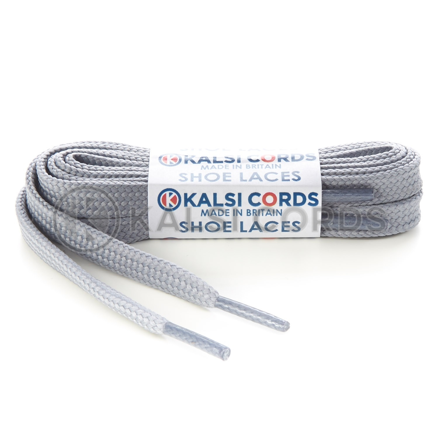 R1176 9mm Flat Shoe Laces Tubular Frosted Silver PG654 Sports Trainers Boots Footwear Hoodies Joggers Drawstring Drawcord Braid