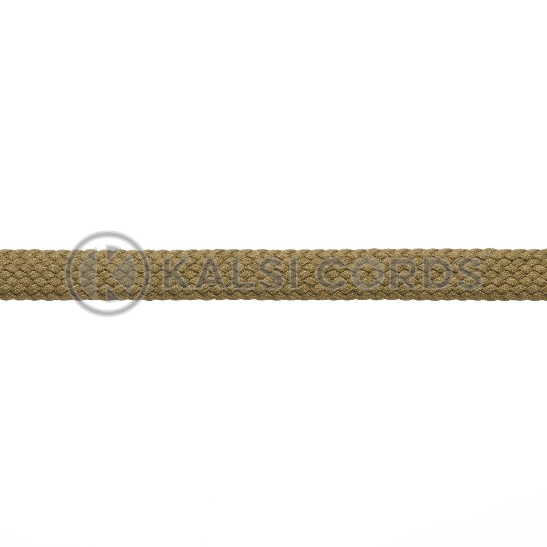 9mm Flat Shoe Laces Tubular Khaki Olive Green PG811 Sports Trainers Boots Footwear Drawstring Drawcord