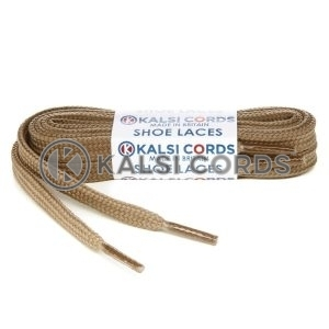 R1176 9mm Flat Shoe Laces Tubular Light Fawn PG591 Sports Trainers Boots Footwear Hoodies Joggers Drawstring Drawcord Braid