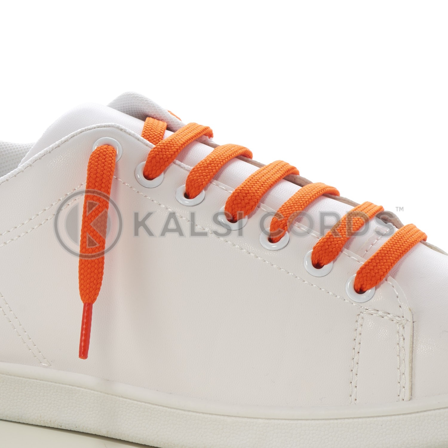 9mm Flat Shoe Laces Tubular Orange PG738 Sports Trainers Boots Footwear Drawstring Drawcord