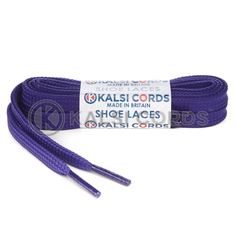 R1176 9mm Flat Shoe Laces Tubular Purple PG3112 Sports Trainers Boots Footwear Hoodies Joggers Drawstring Drawcord Braid