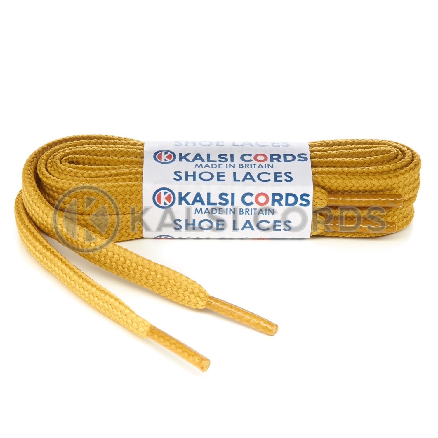 R1176 9mm Flat Shoe Laces Tubular Sovereign Gold PG930 Sports Trainers Boots Footwear Hoodies Joggers Drawstring Drawcord Braid