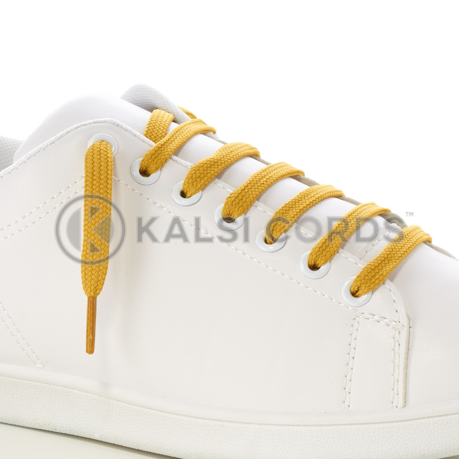 9mm Flat Shoe Laces Tubular Sovereign Gold PG930 Sports Trainers Boots Footwear Drawstring Drawcord