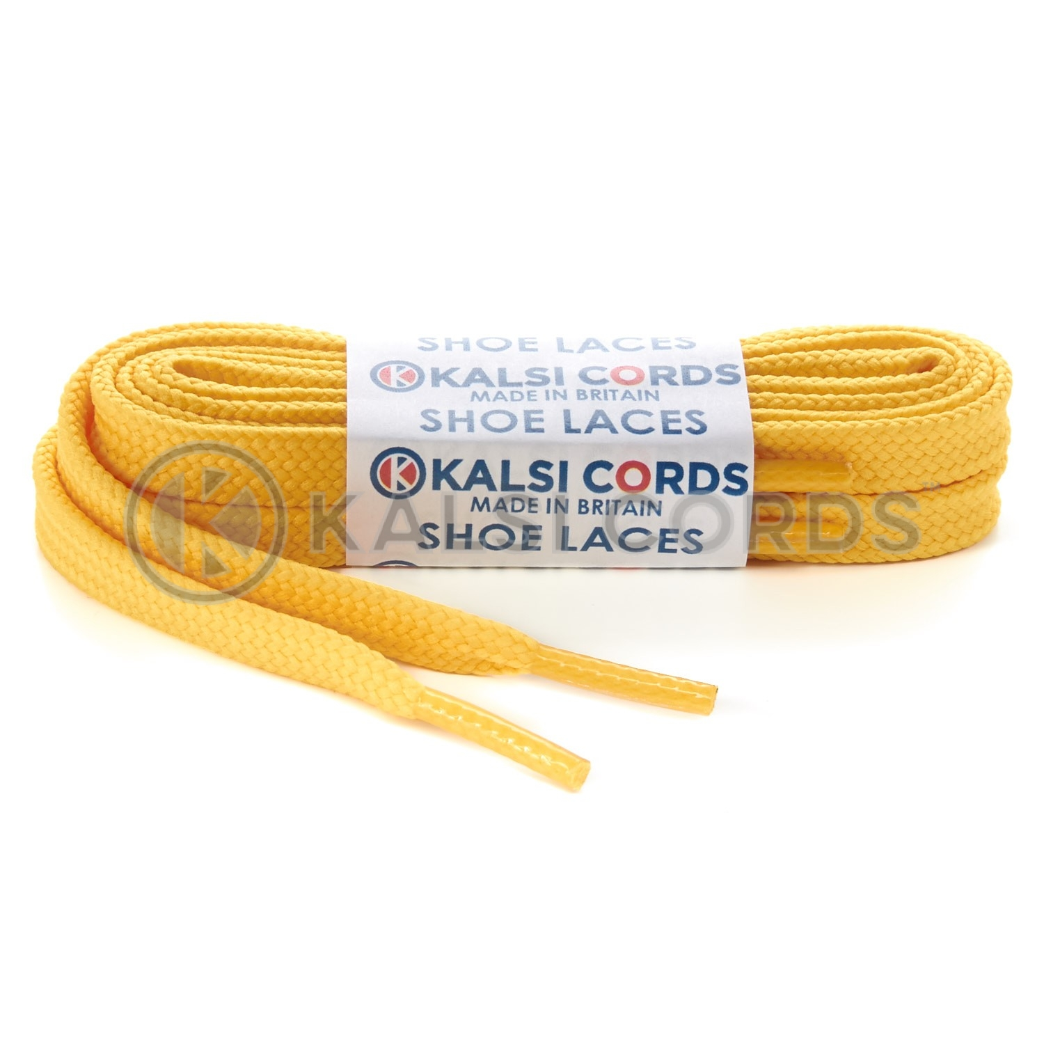 R1176 9mm Flat Shoe Laces Tubular Yellow PG720 Sports Trainers Boots Footwear Hoodies Joggers Drawstring Drawcord Braid