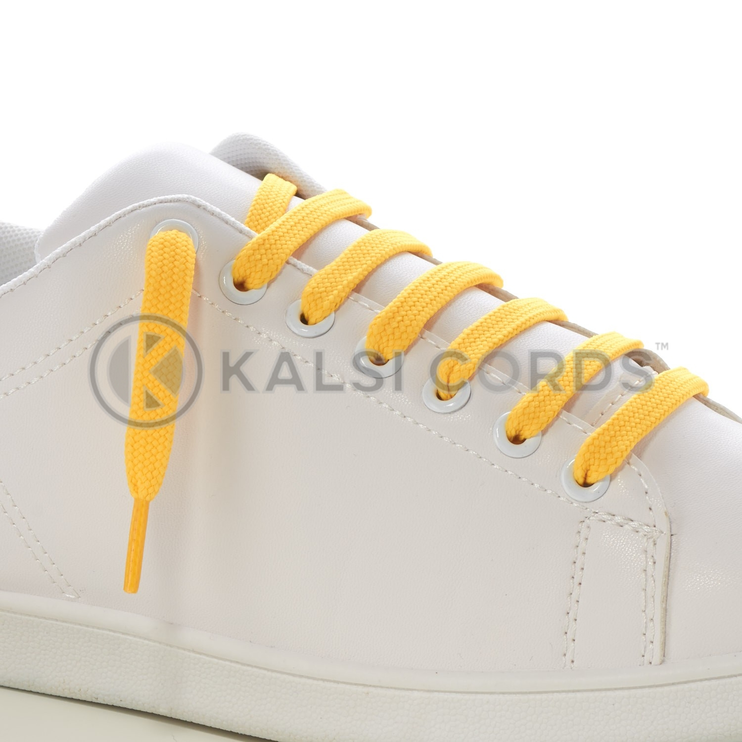 9mm Flat Shoe Laces Tubular Yellow PG720 Sports Trainers Boots Footwear Drawstring Drawcord
