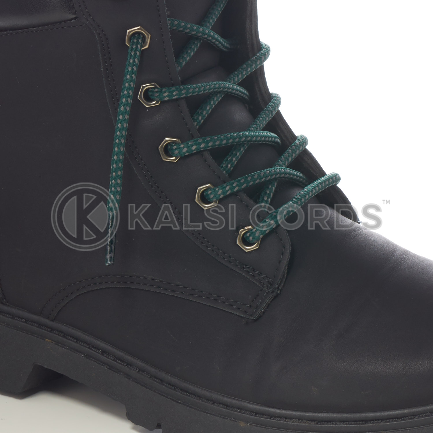 T621 5mm Round Cord Fleck Shoe Lace Cedar Green Grey Kids Trainers Adults Hiking Walking Boots Kalsi Cords