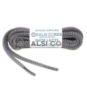 T621 5mm Round Cord Fleck Shoe Laces Grey Dark Navy Kids Trainers Adults Hiking Walking Boots Kalsi Cords