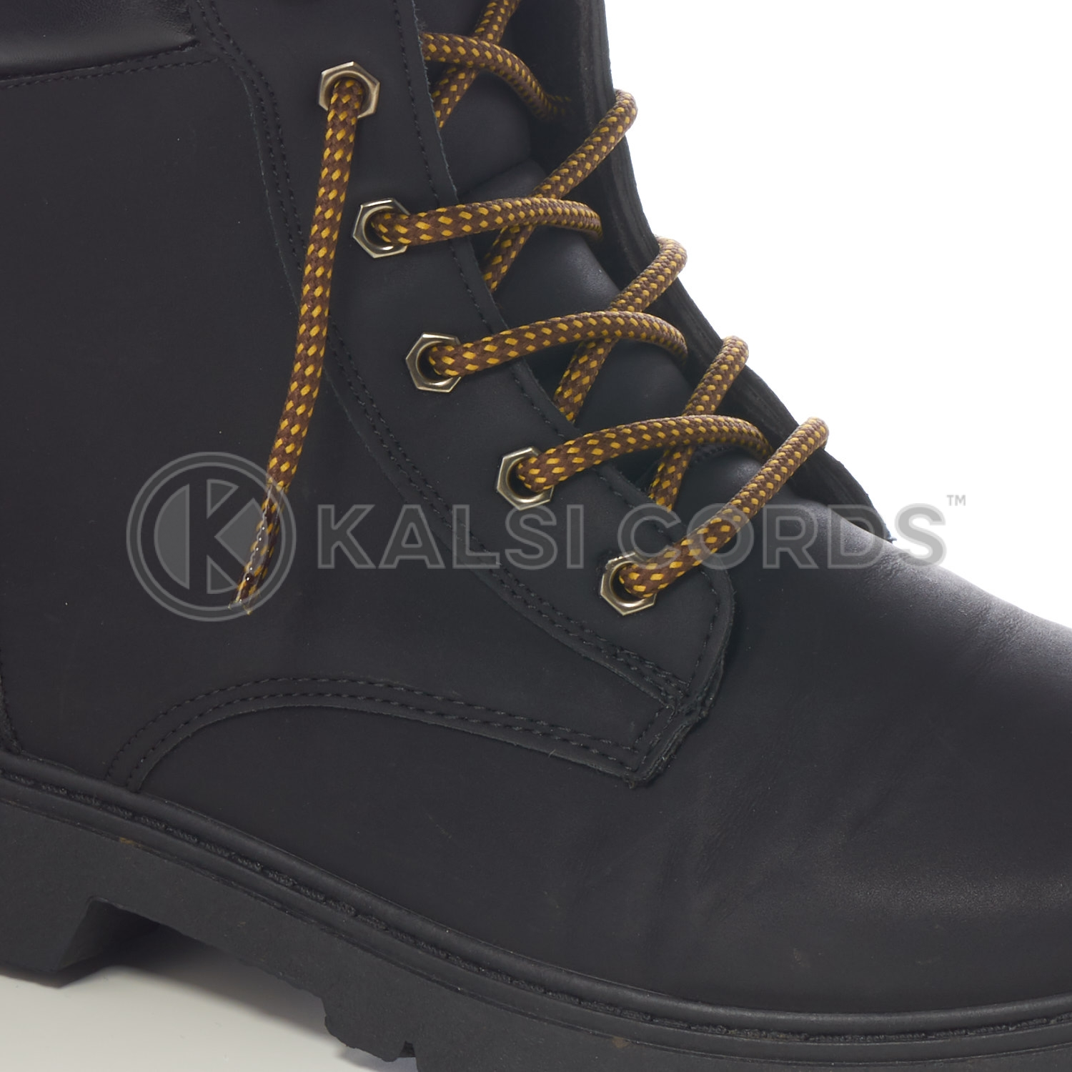 ANY LENGTH Black TIPPED Shoelaces Boot laces Round Walking Lace Tip