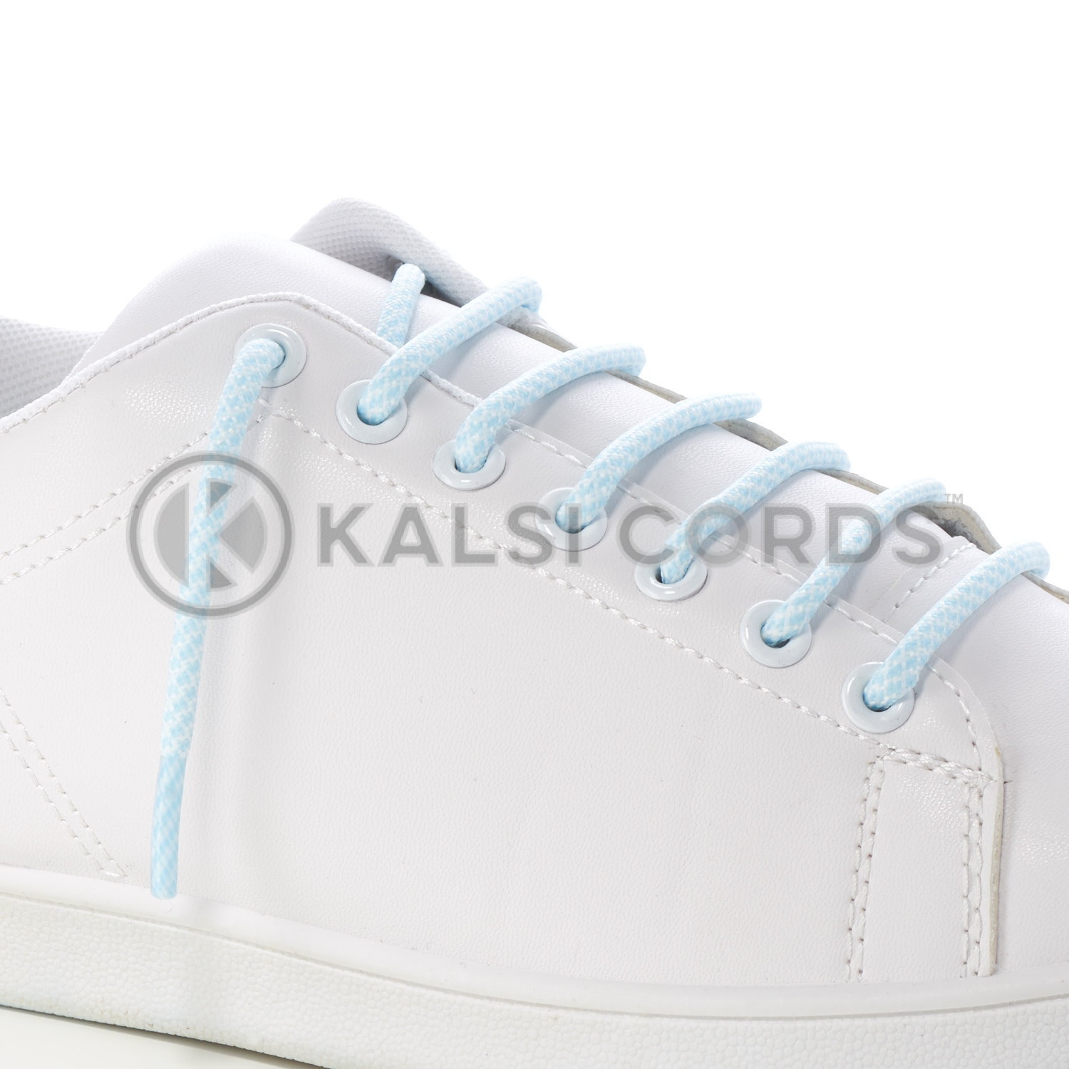T655 5mm Round Cord Honeycomb Shoe Lace Baby Blue White Kids Trainers Adults Adidas Yeezy Boost Hiking Walking Boots Kalsi Cords