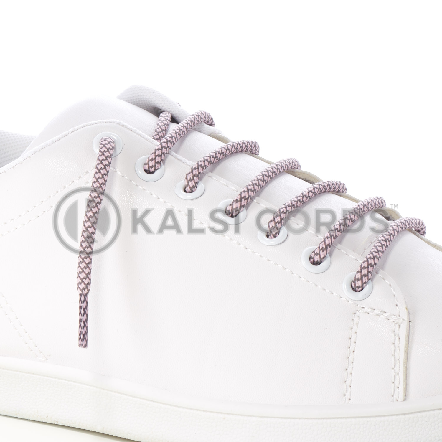 T655 5mm Round Cord Honeycomb Shoe Lace Baby Pink Grey Kids Trainers Adults Adidas Yeezy Boost Hiking Walking Boots Kalsi Cords