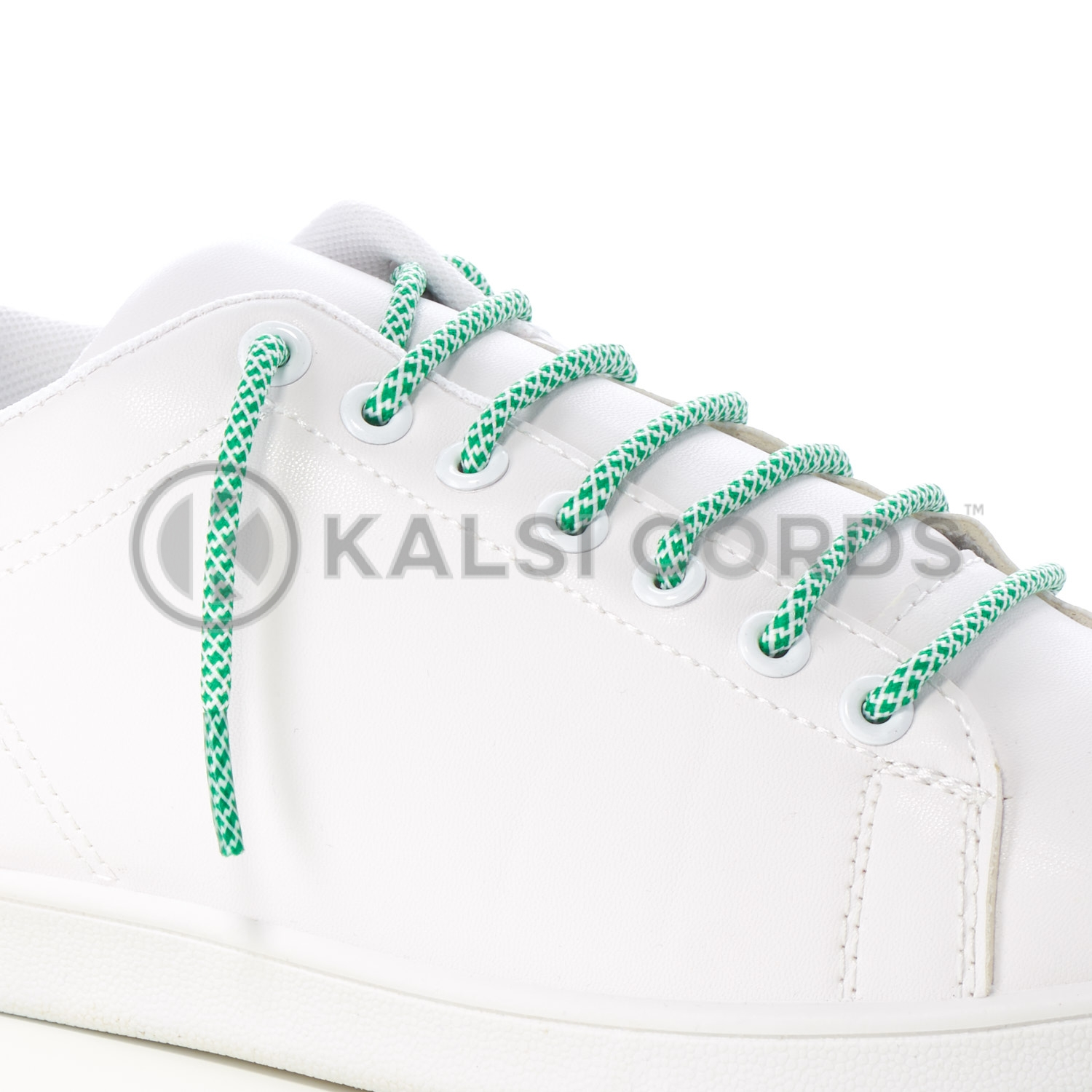 T655 5mm Round Cord Honeycomb Shoe Lace Emerald Green White Kids Trainers Adults Adidas Yeezy Boost Hiking Walking Boots Kalsi Cords
