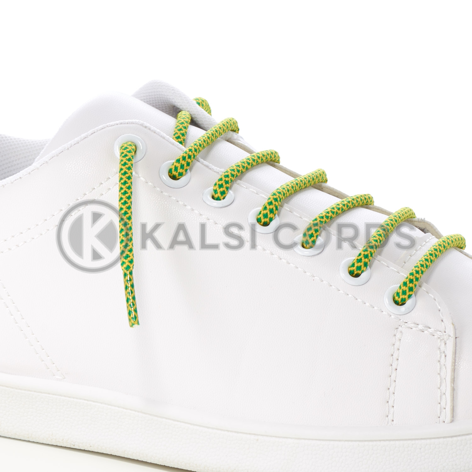 T655 5mm Round Cord Honeycomb Shoe Lace Emerald Green Yellow Kids Trainers Adults Adidas Yeezy Boost Hiking Walking Boots Kalsi Cords