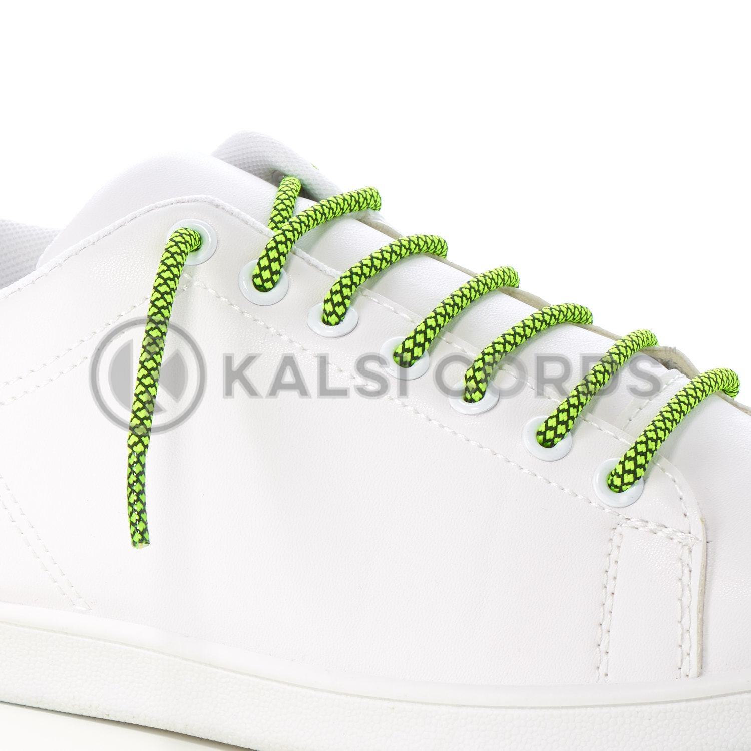 T655 5mm Round Cord Honeycomb Shoe Lace Fluorescent Yellow Black Kids Trainers Adults Adidas Yeezy Boost Hiking Walking Boots Kalsi Cords