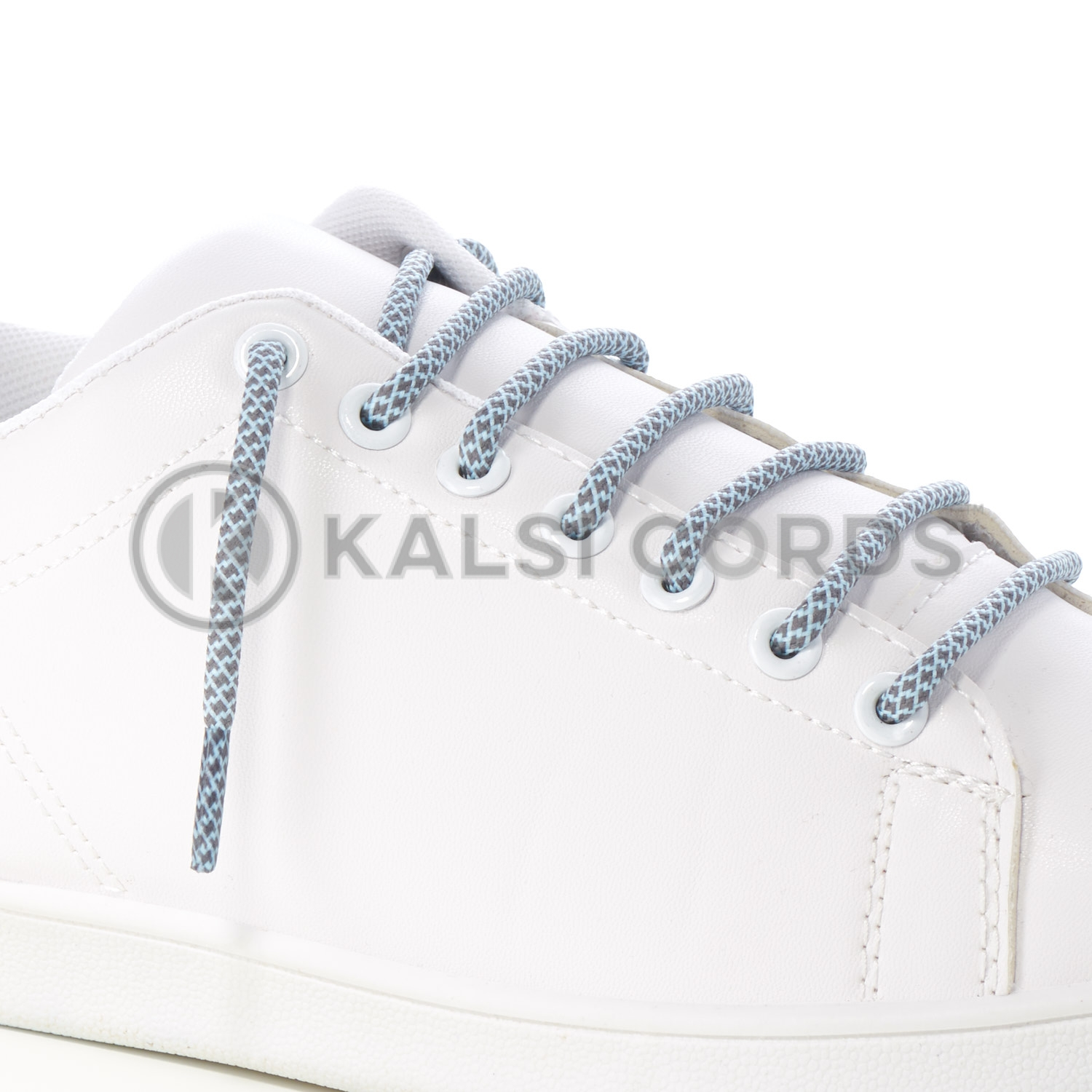 T655 5mm Round Cord Honeycomb Shoe Lace Grey Baby Blue Kids Trainers Adults Adidas Yeezy Boost Hiking Walking Boots Kalsi Cords