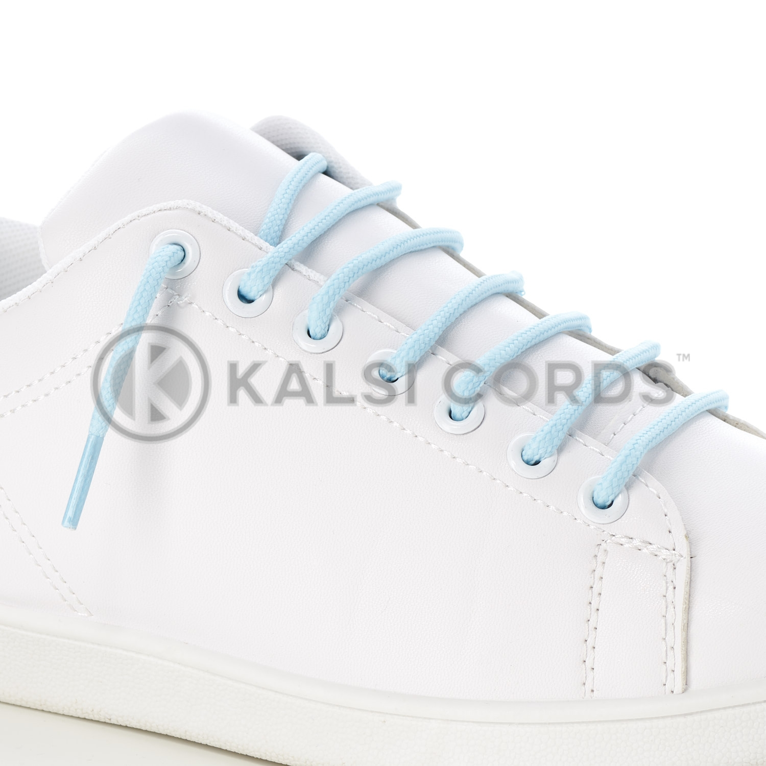 T621 5mm Round Cord Shoe Laces Baby Blue PG835 Kids Trainers Adults Hiking Walking Boots Kalsi Cords