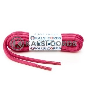 T621 5mm Round Cord Shoe Laces Cerise Pink PG391 Kids Trainers Adults Hiking Walking Boots Kalsi Cords