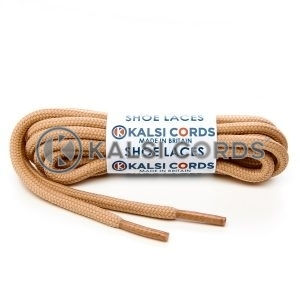 T621 5mm Round Cord Shoe Laces Dark Beige PG659 Kids Trainers Adults Hiking Walking Boots Kalsi Cords