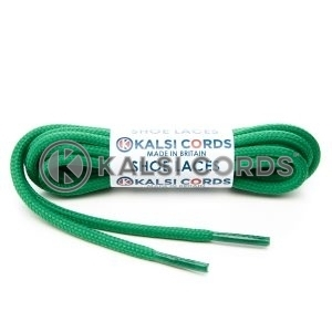 T621 5mm Round Cord Shoe Laces Emerald Green PG517 Kids Trainers Adults Hiking Walking Boots Kalsi Cords