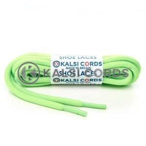 T621 5mm Round Cord Shoe Laces Fluorescent Neon Lime Green PG051 Kids Trainers Adults Hiking Walking Boots Kalsi Cords