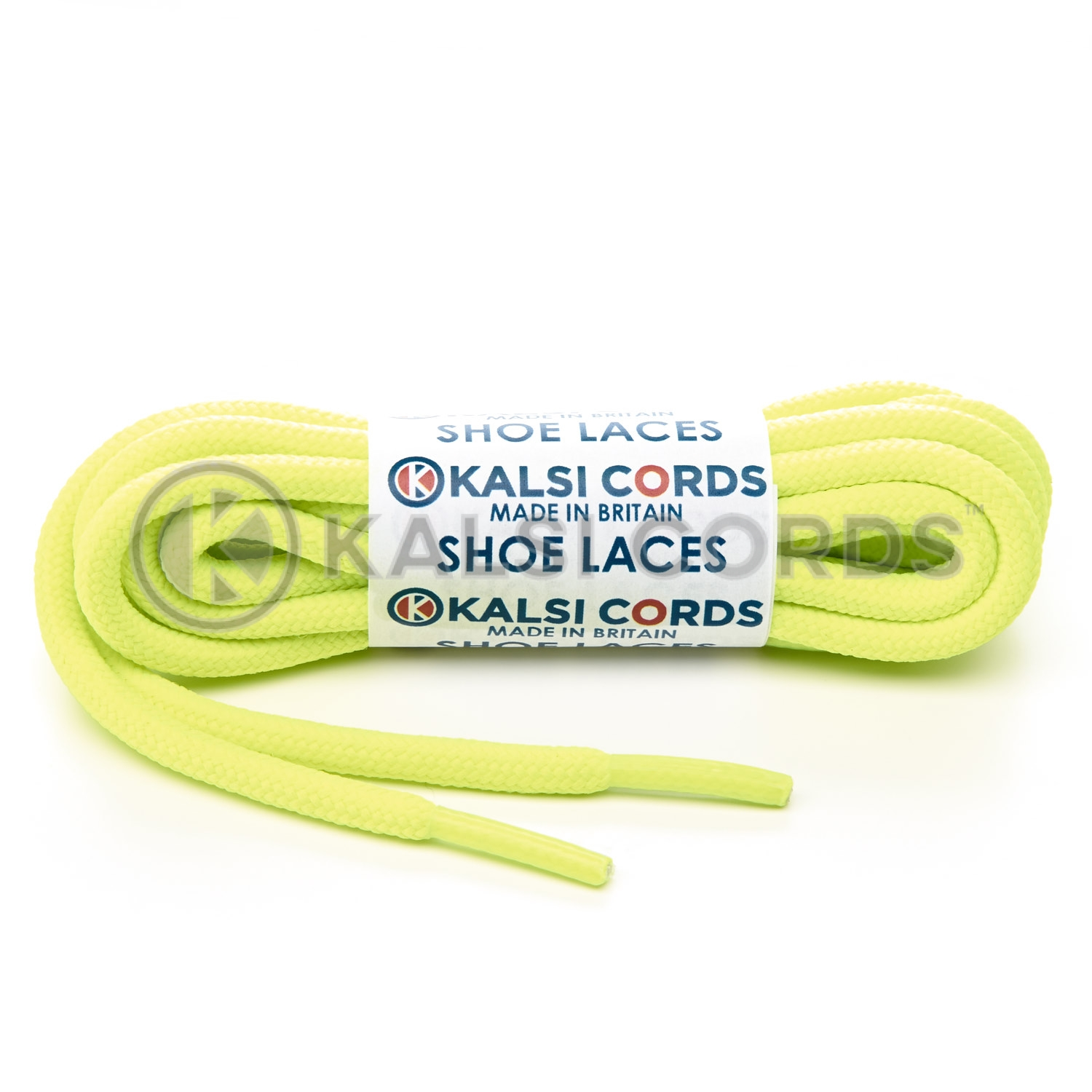 T621 5mm Round Cord Shoe Laces Fluorescent Neon Yellow PG053 Kids Trainers Adults Hiking Walking Boots Kalsi Cords