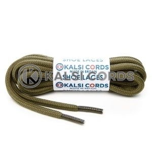 T621 5mm Round Cord Shoe Laces Khaki Olive Green PG811 Kids Trainers Adults Hiking Walking Boots Kalsi Cords