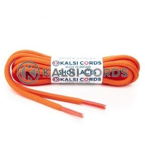 T621 5mm Round Cord Shoe Laces Orange PG738 Kids Trainers Adults Hiking Walking Boots Kalsi Cords