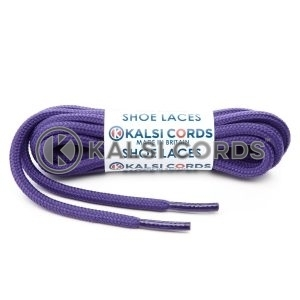 T621 5mm Round Cord Shoe Laces Purple PG3112 Kids Trainers Adults Hiking Walking Boots Kalsi Cords
