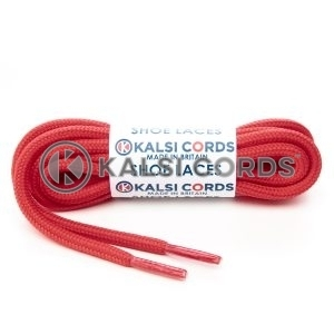 T621 5mm Round Cord Shoe Laces Rose Madder Red PG655 Kids Trainers Adults Hiking Walking Boots Kalsi Cords