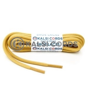 T621 5mm Round Cord Shoe Laces Sovereign Gold PG930 Kids Trainers Adults Hiking Walking Boots Kalsi Cords