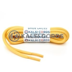 T621 5mm Round Cord Shoe Laces Yellow PG720 Kids Trainers Adults Hiking Walking Boots Kalsi Cords