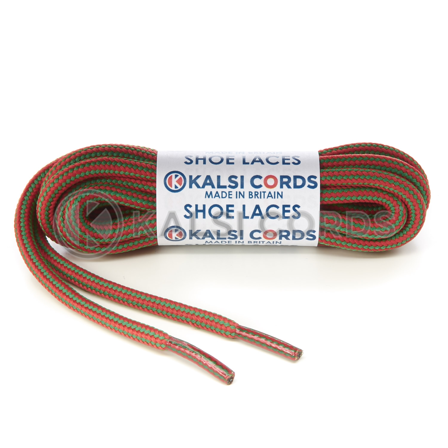 T621 5mm Round Cord Stripe Shoe Laces Emerald Green Rose Madder Red Kids Trainers Adults Hiking Walking Boots Kalsi Cords