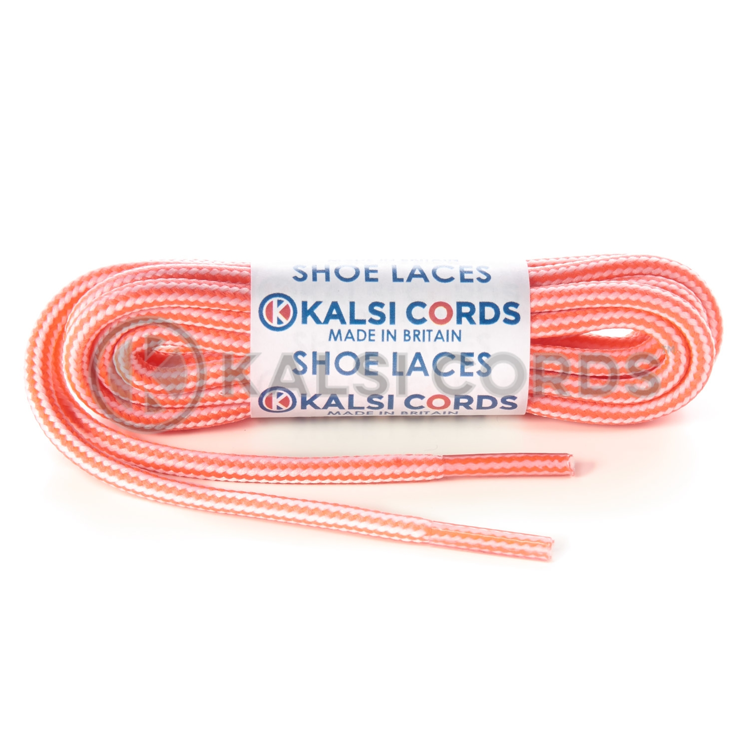 T621 5mm Round Cord Stripe Shoe Laces Fluorescent Pink White Kids Trainers Adults Hiking Walking Boots Kalsi Cords