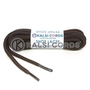 T621 5mm Round Cord Stripe Shoe Laces Black York Brown Kids Trainers Adults Hiking Walking Boots Kalsi Cords