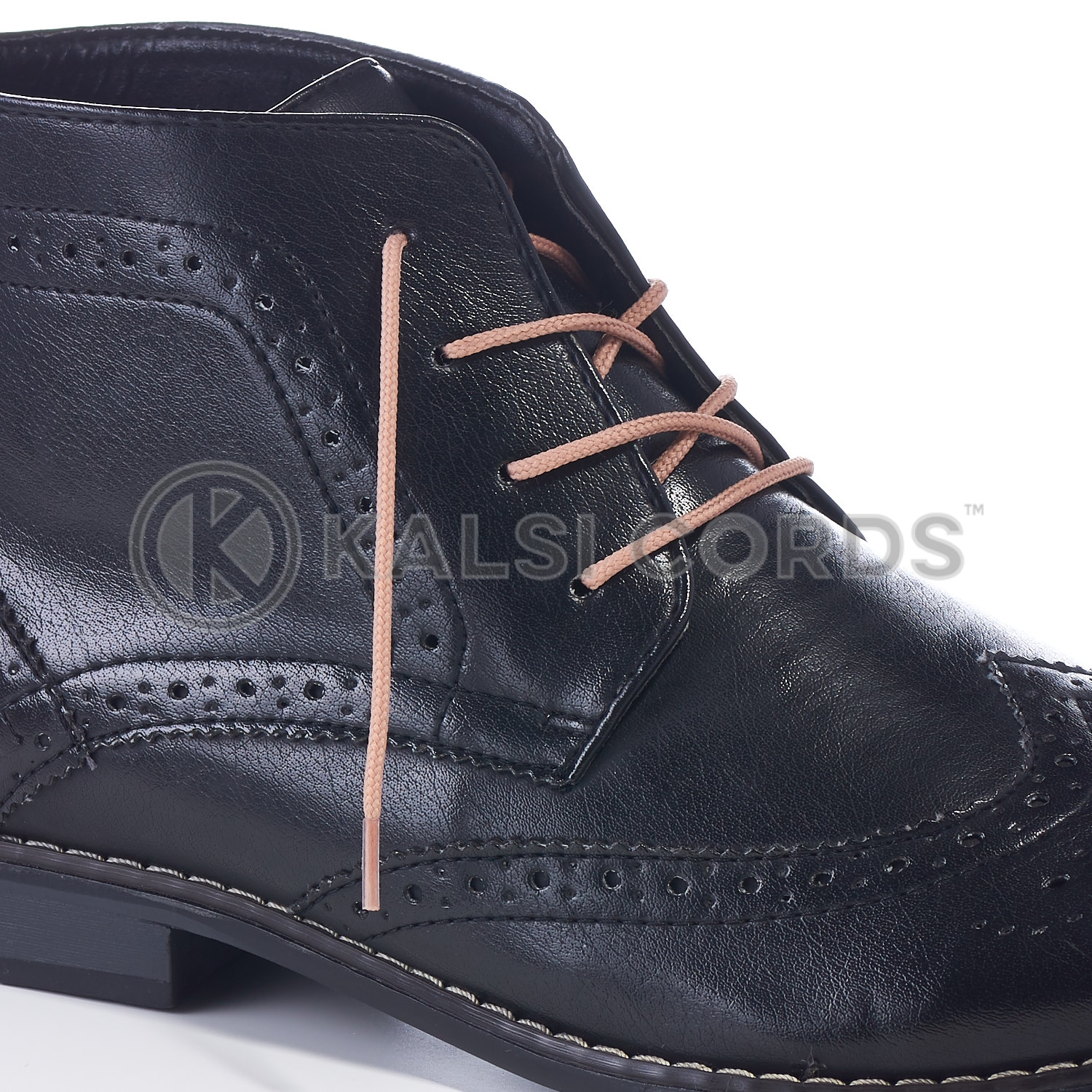 T460 2mm Thin Fine Round Cord Shoe Laces Dark Beige PG659 Kids Trainers Adults Brogue Formal Boots Kalsi Cords