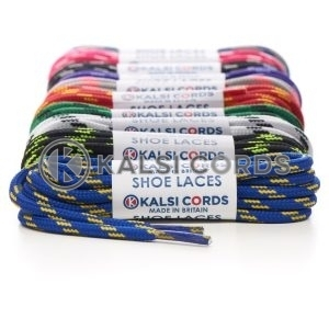 4 Fleck Pattern 5mm Round Cord Shoe Laces