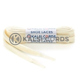 T638 8mm Flat Shoe Laces Tubular Ermine Off White PG904 Sports Trainers Boots Footwear