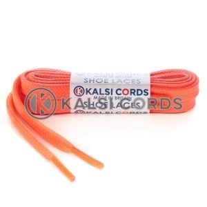 T638 8mm Flat Tubular Shoe Laces Fluorescent Pink 1 Kalsi Cords
