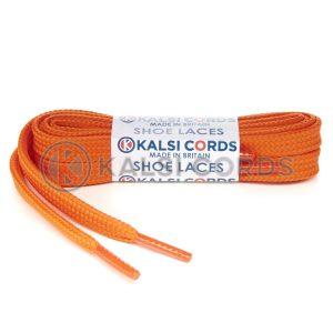 T638 8mm Flat Shoe Laces Tubular Orange PG738 Sports Trainers Boots Footwear